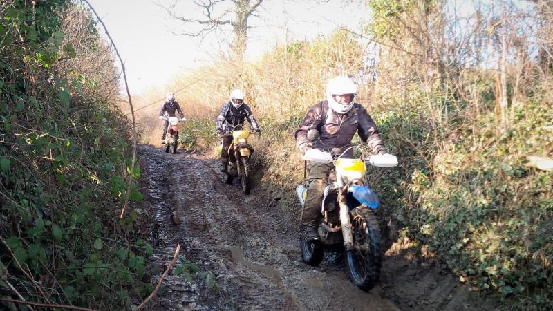 Bath and North East Somerset muddy lane